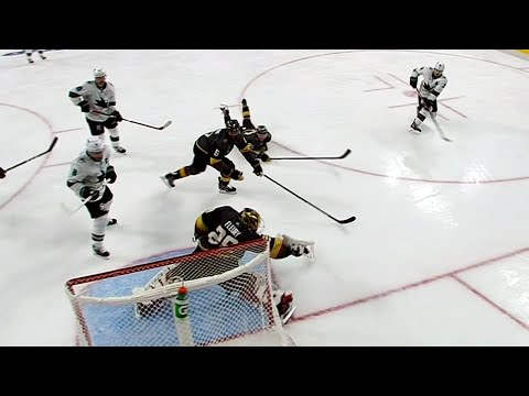 Video: Couture stuns Golden Knights with double OT winner