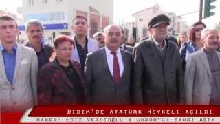 Didim'de Atatürk Heykeli törenle açıldı