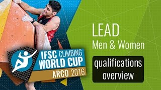 IFSC Climbing World Cup Arco 2016 - Lead Qualifications Overview by International Federation of Sport Climbing