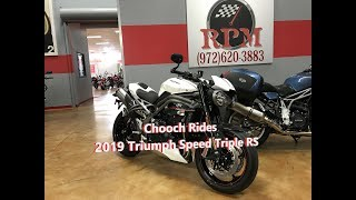 5. Chooch Rides - 2019 Triumph Speed Triple RS