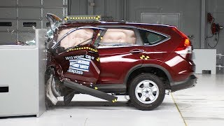 2012 Honda CR-V 40 mph small overlap IIHS crash test Overall evaluation: Marginal Full rating at ...