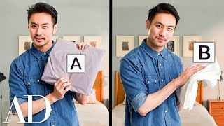Video Expert Guesses Cheap vs. Expensive Bed Sheets | Price Points: Home | Architectural Digest MP3, 3GP, MP4, WEBM, AVI, FLV Juni 2019