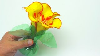 Here are the art and craft ideas how to make a flower with foam and plastic bottles. Subscribe here: http://bit.ly/2ivkoJJ You should definitely try doing this art and craft flower. It is very easy and beautiful. List of materials is simple. You just need two green plastic bottles with a long neck, one sheet of yellow (or any other) foam, q-tips (for cleaning ears), one toothpick with piece of any card paper, marker and hot glue.To make this diy crafts project you'll need 30-40 min (depends on your skills).If you enjoy this video, please like, share and comment.Follow me on Facebook: http://bit.ly/2hd20mvFollow me on twitter: http://bit.ly/2pSrEQJMy Doll Dress channel is here: bit.ly/2iv8OhOMain Channel:https://www.youtube.com/recycledbottlescraftArt and Craft Ideas: How to Make a Flower with Foam and Plastic Bottles