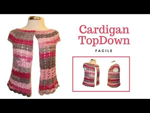 TUTORIAL: Cardigan Top Down facile***lafatatuttofare***
