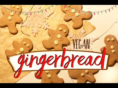 VEGAN GINGERBREAD MEN - lower fat, simple recipe