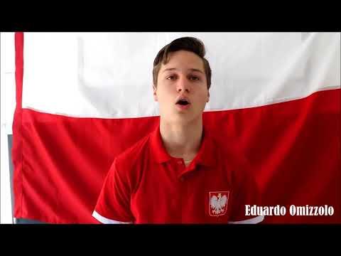 Jovens gravam vídeo em polonês para seleção a Kolonia da Polônia