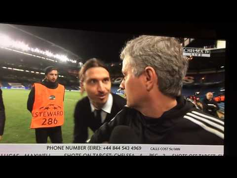 "Ibrahimovic wishes Mourinho ""good luck"" in the Champions League"