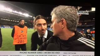 "Ibrahimovic wishes Mourinho ""good luck"" in the Champions Le - YouTube"