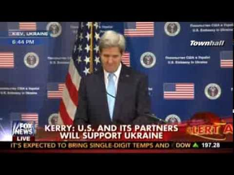 John Kerry Shocked to Learn Putin Denies Russian Troops in C