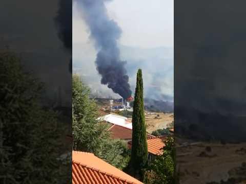 Incendio centrale Enel Valdicecina 3 agosto 2017