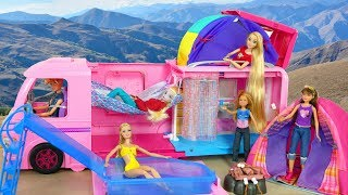 Video Barbie Pop out Dream Camper Unboxing & Review boneka Barbie berkemah mobil boneca Barbie campista MP3, 3GP, MP4, WEBM, AVI, FLV Juli 2018