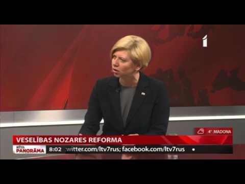"""Veselības ministres Andas Čakšas intervija LTV1 """"Rīta Panorāma"""""""