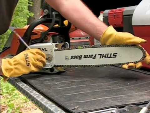 Chainsaw - Over an hour of information on how to properly use and care for your chain saw. Chain saw features, maintenance, saw chain sharpening, protective apparel and...