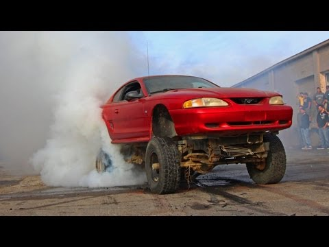 Burnout - YOU choose who wins! Leave a comment with who you think won between the two videos 0:07 - Drifting 240SX 0:58 - Red tire Mustang 1:28 - Tread shreddign Jeep ...