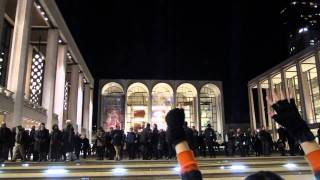 From an Occupy Wall Street protest at Lincoln Center, on Dec. 1, 2011. A performance of Philip Glass's Satyagraha at the Metropolitan Opera has just ended, a...