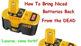 Video How to Bring NI-CAD Drill Batteries Back to Life & Make Them Charge Again - Ryobi MP3, 3GP, MP4, WEBM, AVI, FLV September 2019