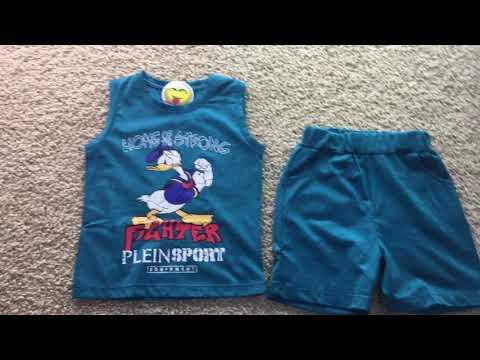 Комплект детский футболка и шорты на мальчика видео