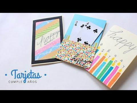 Cartas / Tarjetas de Cumpleaños  Fáciles y Bonitas