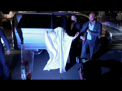 Lady Gaga playing GHOST for halloween in Paris