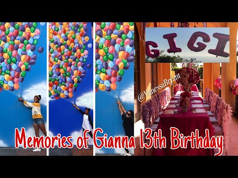 MEMORIES OF GIANNA 13TH BIRTHDAY PARTY AND KOBE BRYANT BIRTHDAY | FAMILY OF MAMBAS