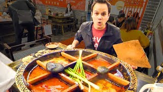 Video Chinese Street Food HOT POT HEAVEN + RABBIT Noodles and SPICY Dumplings in China - CHILI OIL 4 LIFE! MP3, 3GP, MP4, WEBM, AVI, FLV Maret 2019