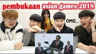 Video DAEBAK!! REAKSI ORANG KOREA NONTON CUPLIKAN PEMBUKAAN ASIAN GAMES 2018 I 2018 자카르타 팔렘방 아시안 게임 MP3, 3GP, MP4, WEBM, AVI, FLV Maret 2019