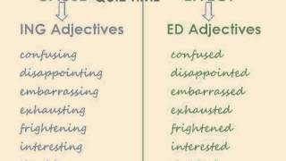 ED and ING Adjectives