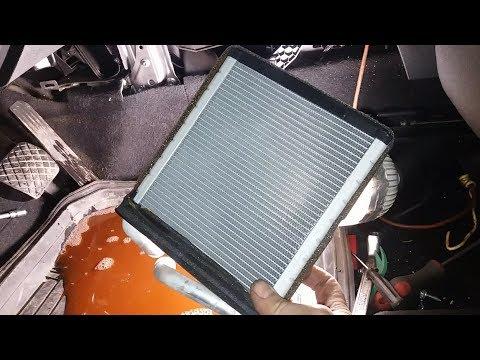 Замена радиатора печки на шкода октавия тур видео