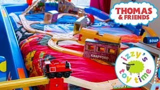 Thomas and Friends BED TRACK CHALLENGE! Thomas Train with Brio | Fun Toy Train Videos for Children