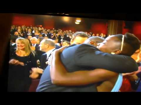 Director! - Oscar Winner for *Best Picture 2014!* *12 Years A Slave.* Director Steve McQueen jumps for joy! Congrats to Steve McQueen, Brad Pitt and all the Producers, a...