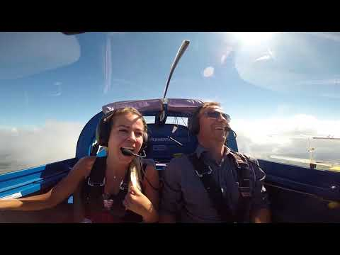 Vans RV-7 Swissmountains With Tanja. Aerobatics And Mountains. Girl Have Fun