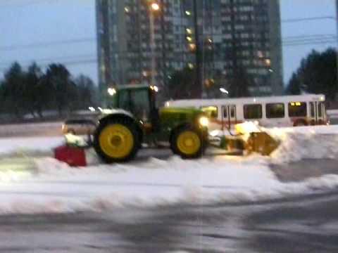 John Deere Pushing Snow