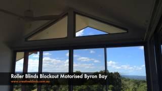 Roller Blinds Blockout Motorised Byron Bay