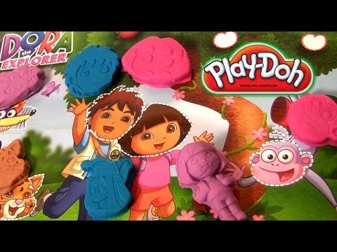Play Doh Dora the Explorer Diego Nickelodeon toys review play-doh review by Disneycollector