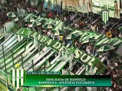 HINCHADA DE BANFIELD BANFIELD 0 ATLÉTICO TUCUMÁN 0 FECHA 14 TORNEO BN 2013 2014 - La Banda del Sur - Banfield