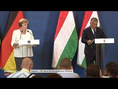 Pressekonferenz mit Merkel und Orbán: 30 Jahre Paneuro ...