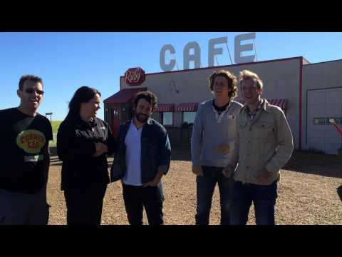 On the set of Corner Gas with The Devin Cuddy Band