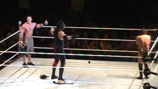 John Cena, Kane, Daniel Bryan Sings Country Roads Hugs WWE Raw World Tour Wheeling, WV 5-4-2013