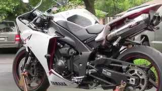 7. 2012 White Yamaha YZF-R1 Walkaround - Stainless Steel Yoshimura Exhaust - Yamaha R1 Walk Around