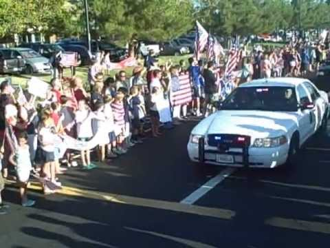 Sky Mote: Community Honors a Fallen Soldier from El Dorado County with Hero's Welcome
