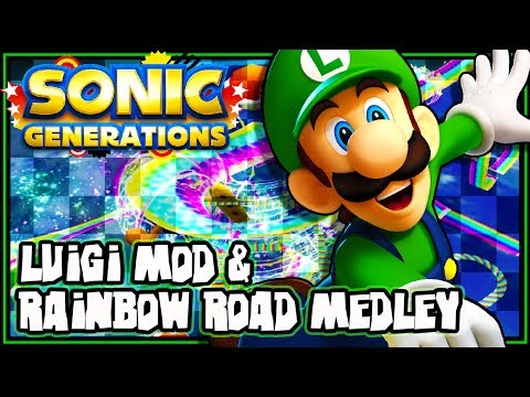 Sonic Generations PC - Luigi & Rainbow Road Medley Mod