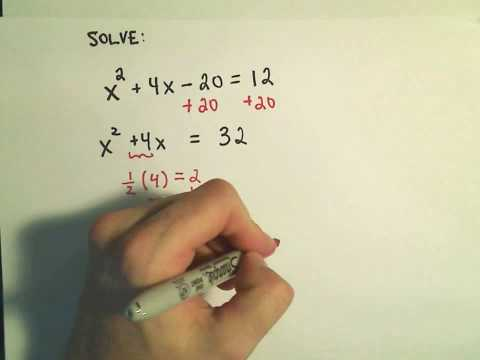 Completing the Square to Solve Quadratic Equations: More Examples - 1