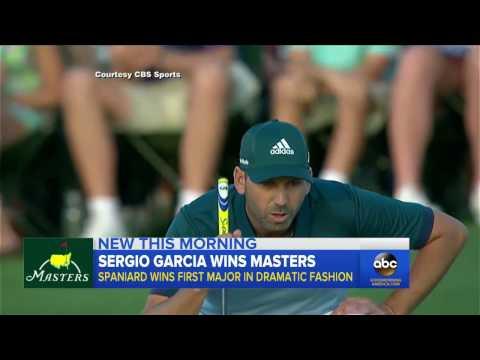 Sergio Garcia wins the Masters in sudden-death playoff