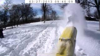 Мотоблок Мотор Сич.Первая проба Снегоуборочный агрегат Мотор Сич СУН-1С