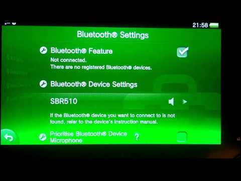 how to use bluetooth on a ps vita