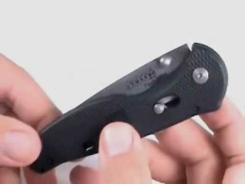 SOG Flash II Black GRN Spring Assisted Knife - Satin Serr