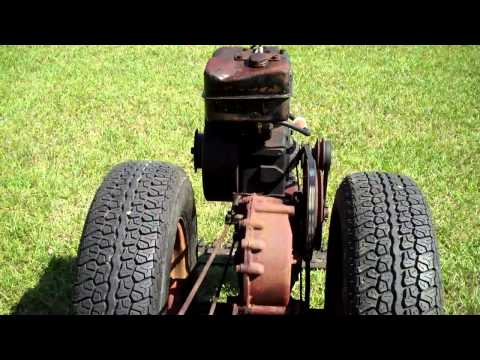 david bradley tractor - 1955 David Bradley walk behind tractor build for Sears. With sickle mower. this is a first run test with trailer tires. Plan is to get mechanical items done ...