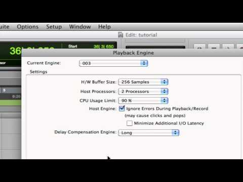 Pro Tools Tips & Tutorials: Disk Buffers