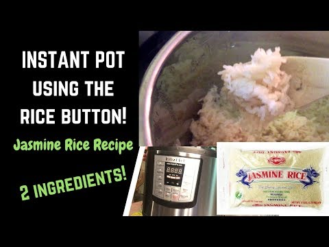 Cooking Jasmine Rice In The INSTANT POT LUX MODEL Pressure Cooker