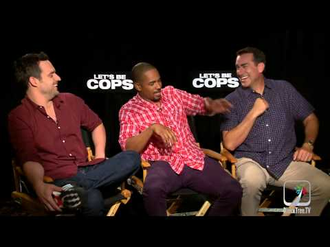Lets Be Cops stars talk about Police Brutality and tickets